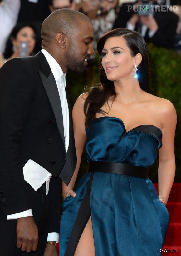Kanye West et Kim Kardashian au MET Ball 2014.