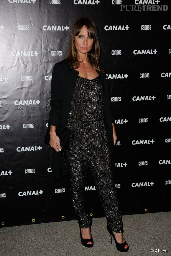 combinaison glitter pour axelle laffont la soir e canal cannes le 16 mai 2014. Black Bedroom Furniture Sets. Home Design Ideas
