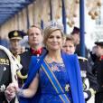 Majestueuse Reine Maxima en robe Jan Taminiau.