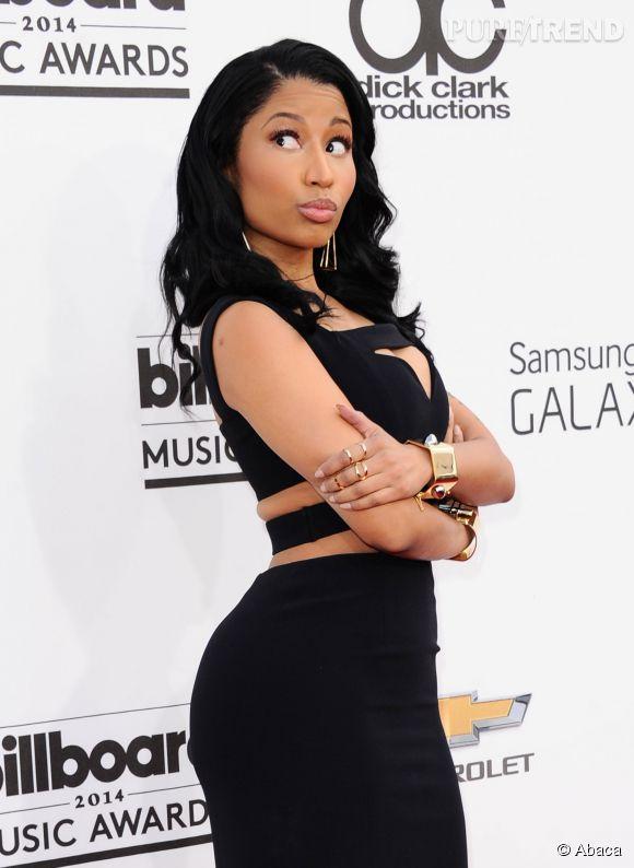 Nicki Minaj n'a pas hésité à faire le show dimanche 18 mai 2014 lors des Billboard Music Awards 2014.