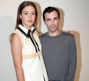 Nicolas Ghesquière et Adèle Exarchopoulos au défilé Croisière 2015 Louis Vuitton.