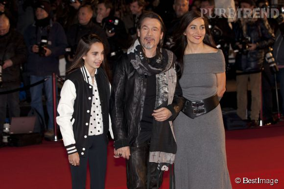 Florent Pagny avc sa femme Azucena et sa fille Aël lors des NRJ Music Awards 2013.