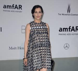 Amira Casar au gala de l'amfAR à l'Hôtel du Cap le 22 mai 2014.