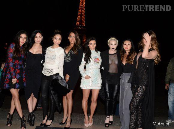 "Kim Kardashian et sa ""bachelorette party"" à Paris le 22 mai 2014."