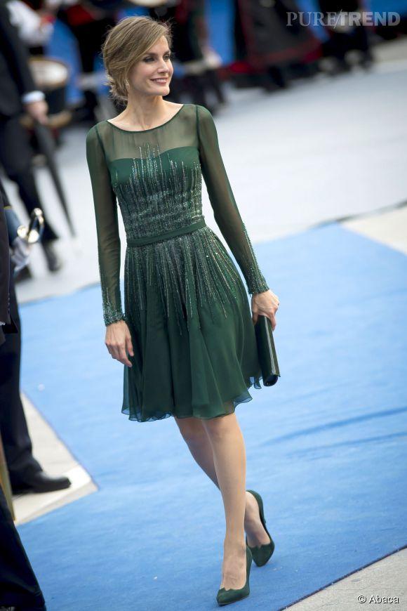 Letizia Ortie, princesse d'Espagne et future reine, lors d'une cérémonie de remise de prix en Espagne le 25 octobre 2013.