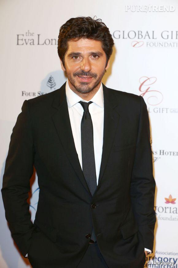 Patrick Fiori, très chic à la soirée Global Gift Gala 2014.