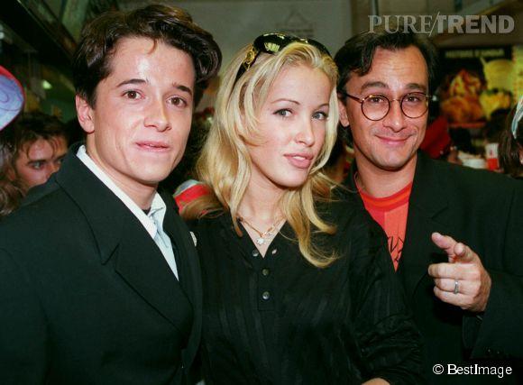 Ophélie Winter avec Laurent Petitguillaume et Yves Noël en 1994.