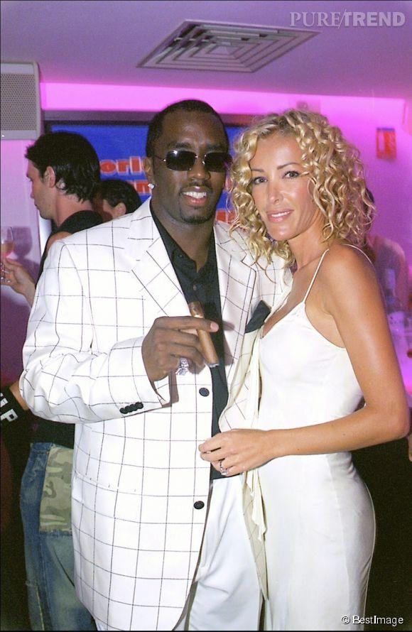 Ophélie Winter et P Diddy, à l'époque PUFF DADDY, en boîte à Saint Tropez en 2003.