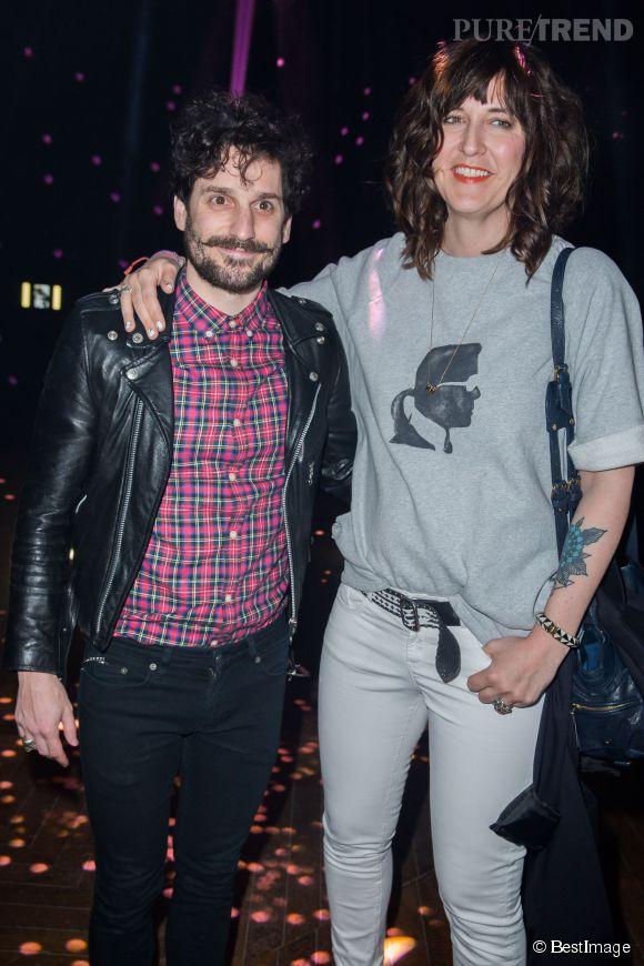 Daphné Bürki et son compagnon, Gunther Love lors d'une soirée Karl Lagerfeld en mars 2014.