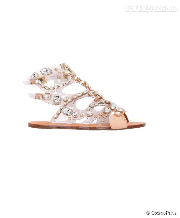 Nu-pieds CosmoParis, modèle Halia. Prix : 190€