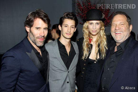 Marie de Villepin au côté de Jalil Lespert, Pierre Niney et le producteur hollywoodien  Harvey Weinstein .
