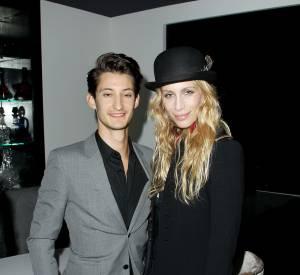 """Marie de Villepin et Pierre Niney à la première de """"Yves Saint Laurent"""" à New York."""