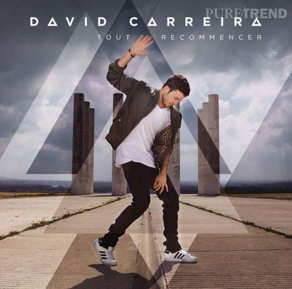 """Pochette du dernier single de David Carreira """"Tout recommencer"""" dont la sortie est prévue le 25 août 2014."""