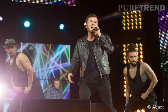 David Carreira sur la scène du concert M6 Music Hits le 14 juin 2014.