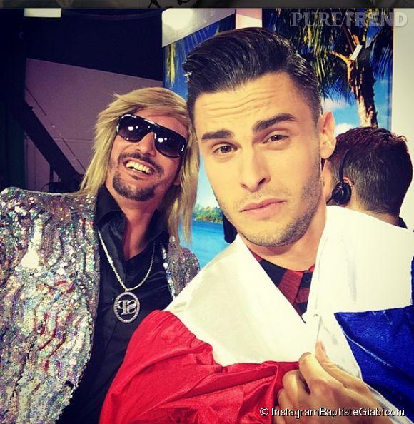 Baptiste Giabiconi n'a pas oublié de poser avec Sébastien Patoche!