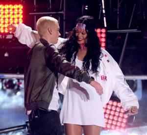Eminem et Rihanna en 2014.