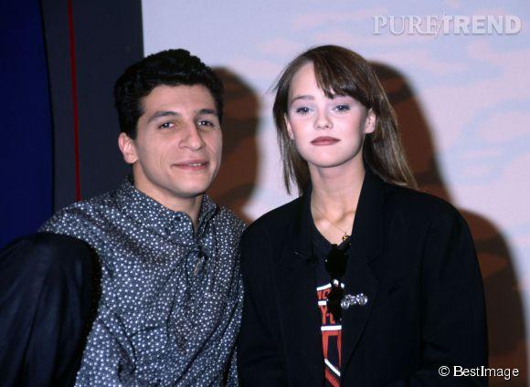 Nagui et Vanessa Paradis en 1988.