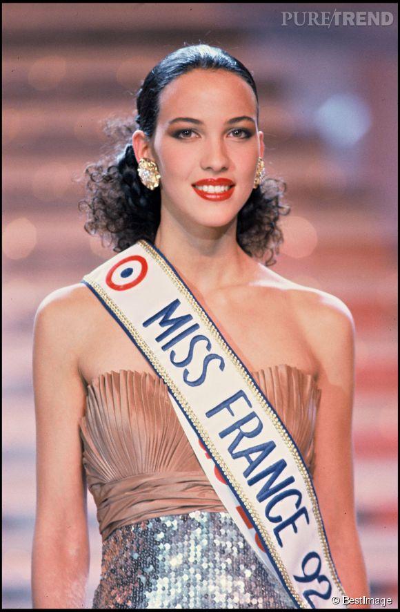 Linda Hardy en décembre 1991 lors de son élection à Miss France 1992.