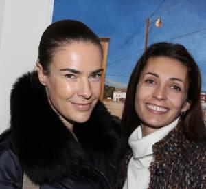 Bénédicte Delmas et Adeline Blondieau en 2012 pour un vernissage.