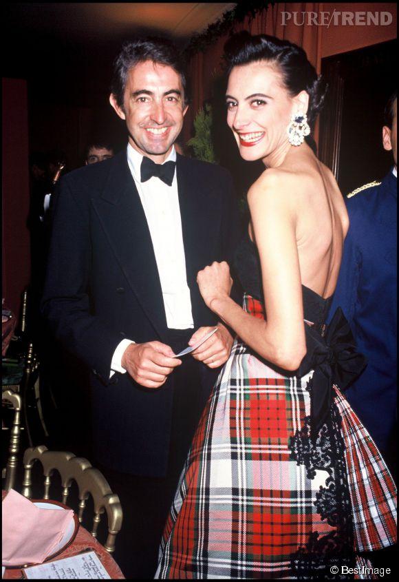 Inès de La Fressange et Luigi d'Urso en juin 1992.