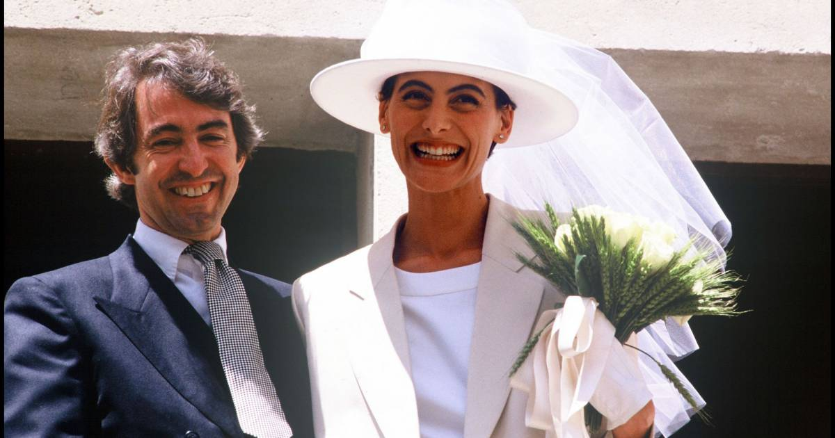 In s de la fressange et luigi d 39 urso le jour de leur mariage en juin 1990 puretrend - Mari d ines de la fressange ...