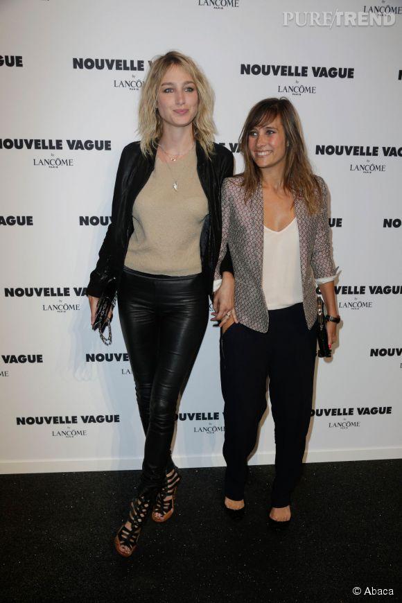 Pauline Lefèvre et Julie de Bona lors de la soirée Nouvelle vague by Lancôme le 9 juillet 2014 à Paris.