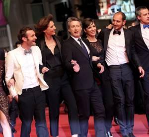 """Antoine de Caunes et l'équipe du """"Grand Journal"""" au Festival de Cannes 2014."""
