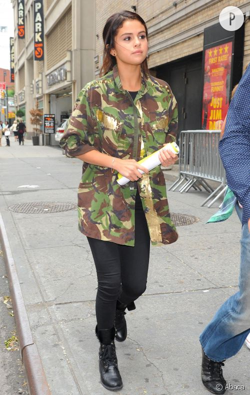 Selena Gomez à New York, toujours stylée.