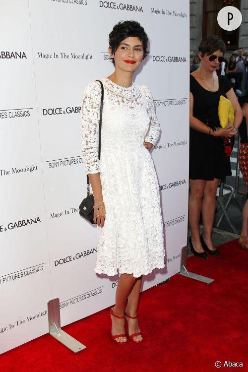 Audrey Tautou à une after party à New York City le 17 juillet 2014.