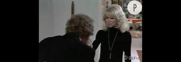 """Pierre Richard rencontre Mireille Darc dans """"Le Grand Blond avec une chaussure noire""""."""