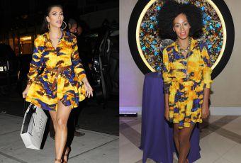 Kim Kardashian vs Solange Knowles : la petit robe d'été Thakoon