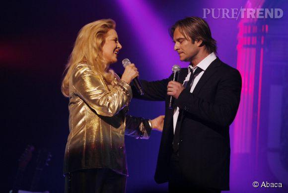 Sylvie Vartan et David Hallyday en 2008.