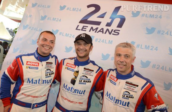 David Hallyday et son autre passion, la course automobile en 2014.