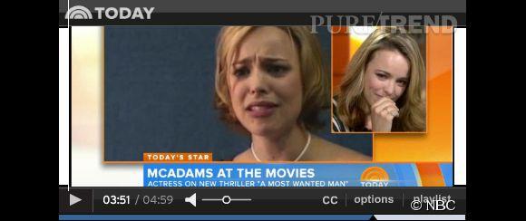 """Rachel McAdams découvre la vidéo de son audition pour Ally dans le film """"N'oublie jamais"""" en 2004."""