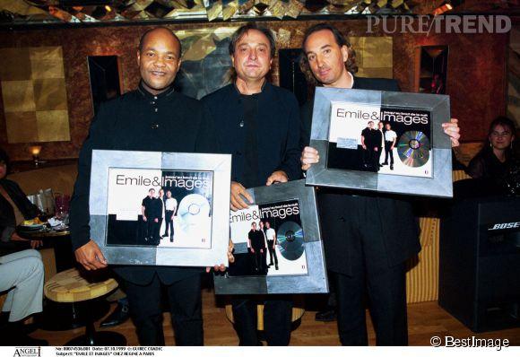 Le groupe Emile et Images, disque de platine en 1999.