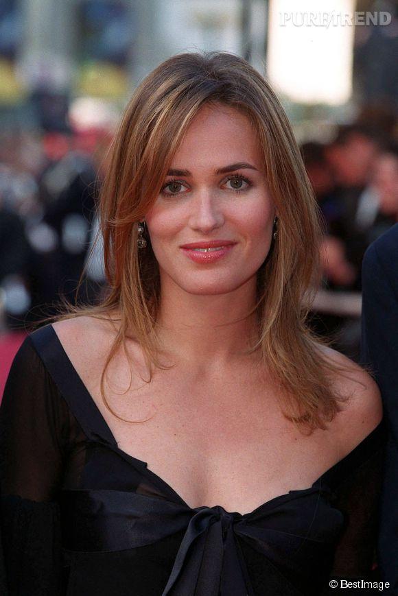 Judith Godrèche, jolie brune au Festival de Cannes en 2002.
