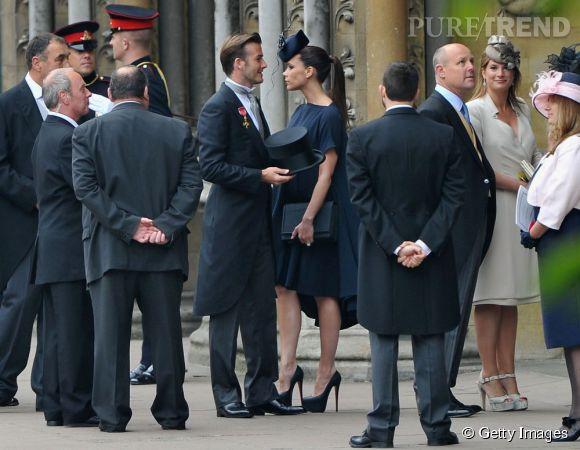 Victoria et David Beckham, un couple glamour au mariage de Kate Middleton  et du Prince