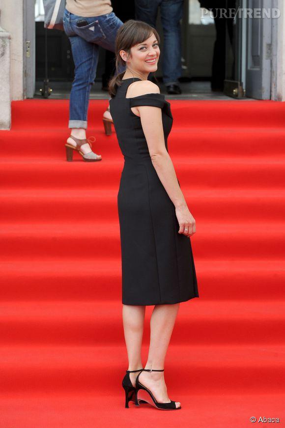 """Marion Cotillard à la projection de """"Deux jours, une nuit"""" à la Somerset House dans le cadre du Film4 Summer Screen à Londres le 7 août 2014."""