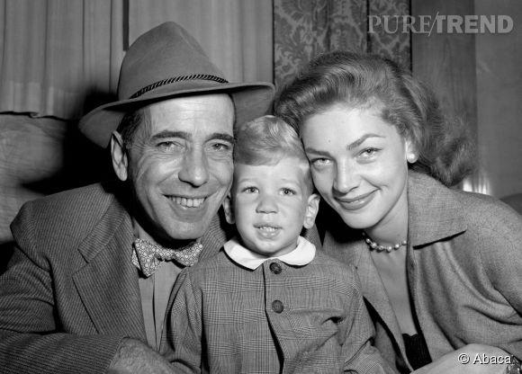 Lauren Bacall, Humphrey Bogard et le jeune Stephen en 1951. La famille a fait rêver l'Amérique entière.