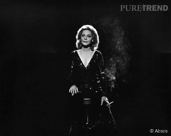 """Lauren Bacall, une icône du cinéma hollywoodien, ici dans """"The Fan"""", en 1981."""