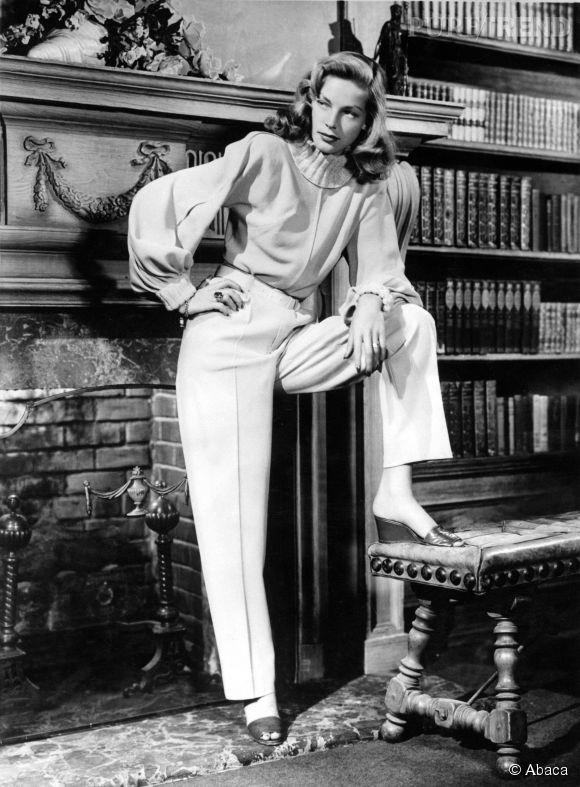 Lauren Bacall, un regard par dessous et un charisme qui crève l'écran. Sur ce cliché pris en 1949, elle n'avait que 25 ans.