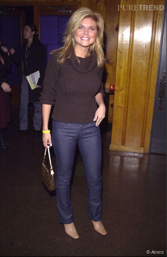 Tiffani Thiessen, en 2000, coiffe décidément toujours ses cheveux la tête en bas.