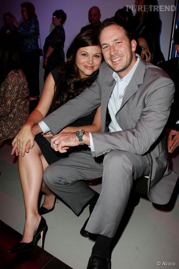 Tiffani Thiessen et son mari Brady Smith lors de la Fashion Week de New York en septembre 2010.