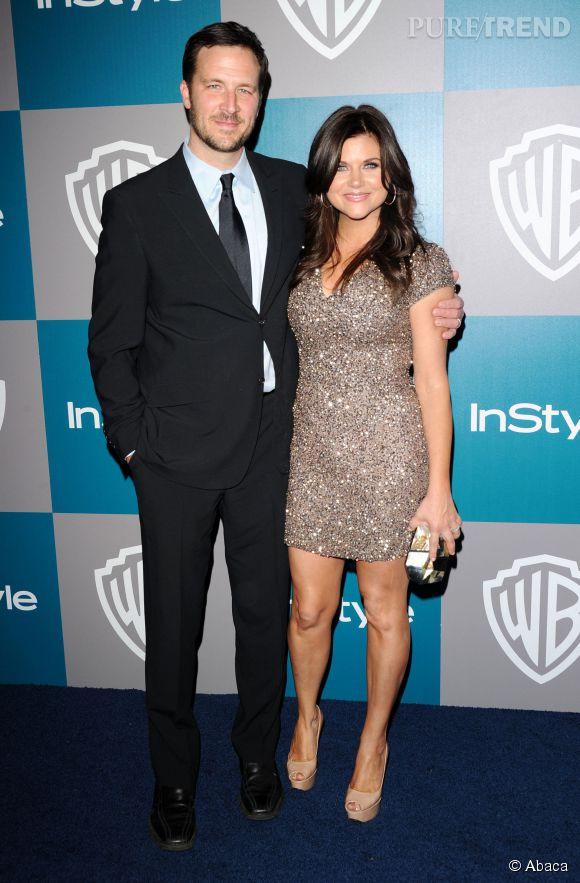 Tiffani Thiessen brillait de mille feux lors de la soirée des Golden Globe en janvier 2012.