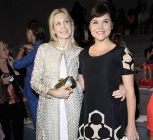 Tiffani Thiessen et Kelly Rutherford lors de la Fashion Week de septembre 2013.