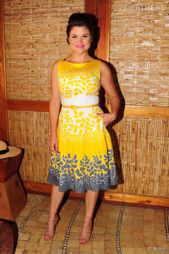 Tiffani Thiessen est absolument rayonante dans cette robe estivale lors de son séjour au Mexique en janvier 2014.