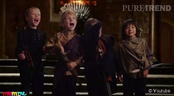 "Les enfants reprennent la série culte ""Game of Thrones""."