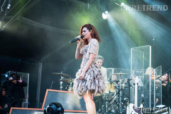 Emilie Simon, la douceur de la scène de la Cascade à Rock en Seine le 23 août 2014.