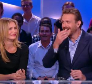 "Antoine de Caunes, une question osée qui choque Cameron Diaz et Jason Segel sur le plateau du ""Grand Journal""."