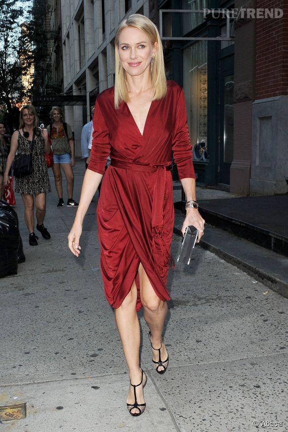 Naomi Watts rétro et élégante le 5 septembvre à NYC.